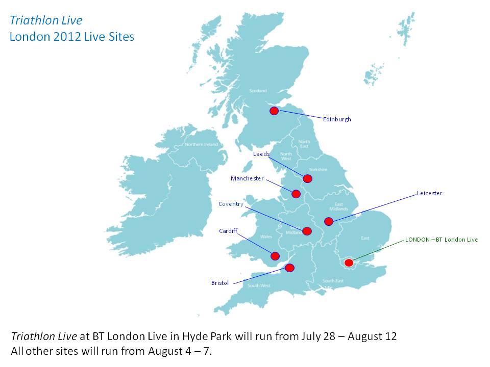 2012 Live site Venues